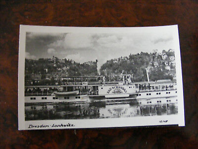 AK Dampfer Schiff Bad Schandau 1952  DDR - Propaganda Losung Photo Handabzug