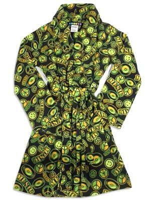 Bee Odd by Bee Posh Boys Peace & Smiley Graphic Soft Plush Bathrobe Robe