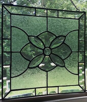 Original Stained Glass Panel / Sun Catcher - Clear