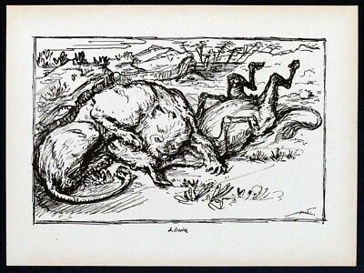 Alfred KUBIN, Löwin - Lithographie