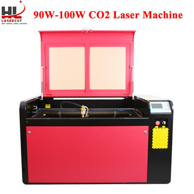 Co2 Laser Engraver 100W Crafts Cutting CW5000 Water Cool 390MM Lift Linear Guide