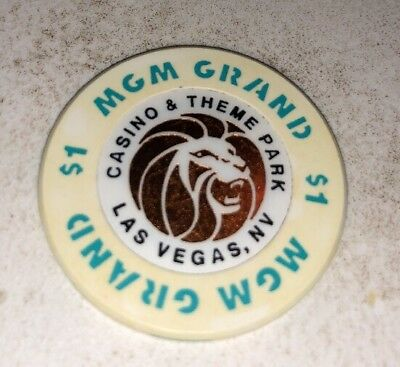MGM Grand Hotel $1 Casino Chip Las Vegas Nevada 2.99 Shipping