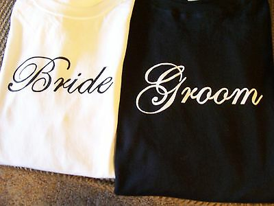Bride & Groom Wedding Shirts! Great Gift Idea For Honeymoon! Fast Shipping!