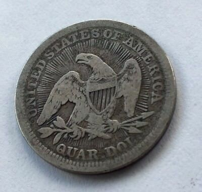 1853 P 25C Arrows and Rays Liberty Seated Quarter 90% Silver US Circulated Coin