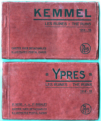 Lot 2 Carnets CP Photos 1914-18 Ypres + Kemmel