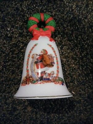 Vintage 1995 Avon Collectible Holiday Christmas Bell ~ Porcelain