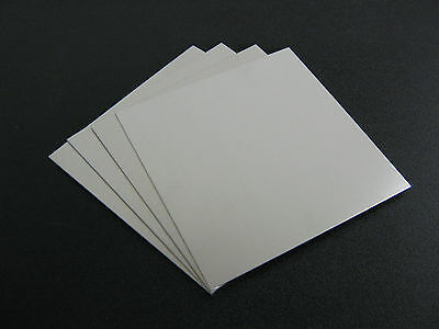 "4 pieces - 1/8"" .125 Thick  Aluminum Sheet 5052 H32  -    4"" x 6"""