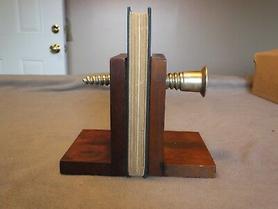 Vintage Kentucky Tavern Creation Book Ends G.D. Co. Hardware Screw