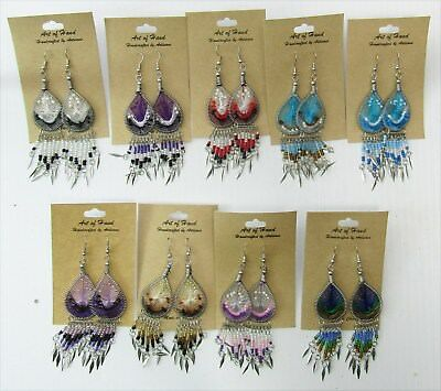 Wholesale Lot of 25 Dream Catcher Earrings with Dangles