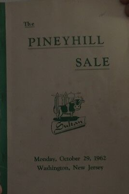 1962 The Piney Hill Sale Holstein Cattle Sale Catalog