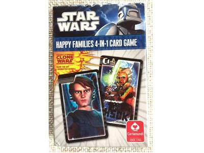 STAR WARS Happy Families 4-IN-1 CARD GAME