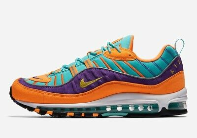 Nike Air Max 98 QS Cone Tour Yellow Hyper Grape Size 8-13 LIMITED 924462 8450f104a