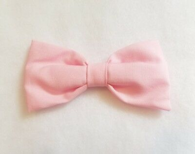 Light Pink cotton bow tie w/ clip-on kids toddler baby FAST SHIPPING!
