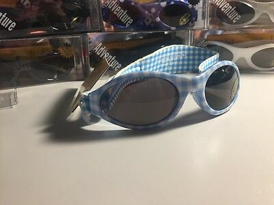 Kidz Banz Adventure 100% UV Protection Light Blue White Sunglasses Ages 2-5 Baby