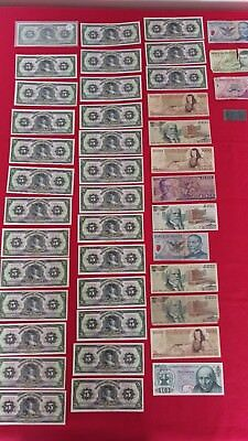 Lot Of 43 Mexico Bank Notes 29 The Same Various Cu