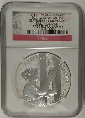 2011WSilver Medal  September 11 Memorial  Early Releases  Pf 69 Ultra Cameo