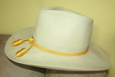 STETSON cowboy hat with Cavalry style hat cord