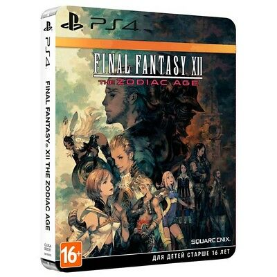 PS4 Final Fantasy XII The Zodiac Age Steelbook English playstation 4 game NEW