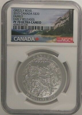 2015  Canada S$20 Grizzly Bear   Family   Early Releases  Pf 70 Ultra Cameo