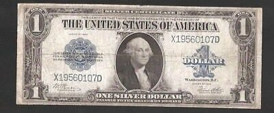 Woods/white Horseblanket 1923 $1 Large Currency Note