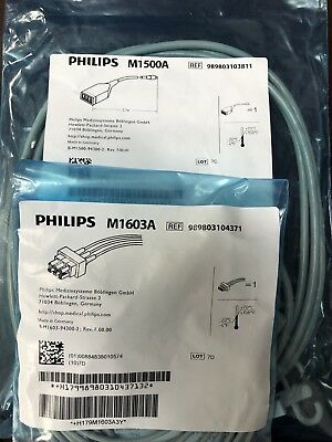 Philips M1500A ECG Trunk Cable 12 Pin to 3 Lead