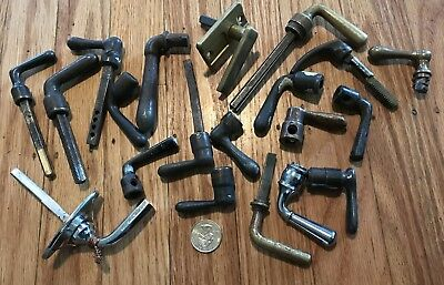 Assorted lot antique vtg small lever handles brass and steel
