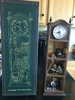 Grandpa's Ol' Time Clock Boyds Bears Bearstone Limited Edition Retired