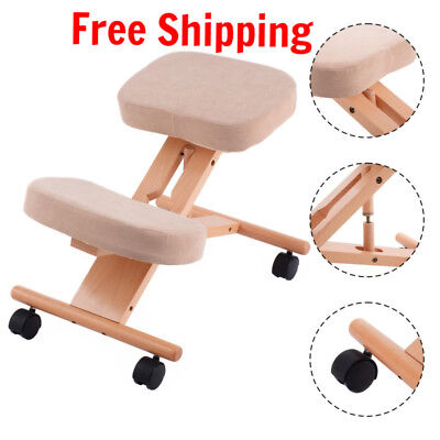 Wooden Chair Kneeling Orthopaedic Stool Ergonomic Posture Frame Seat Health Care