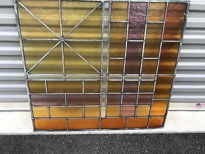 VINTAGE Antique STAINED GLASS WINDOWS FROM CHURCH rare demand 30 x 32