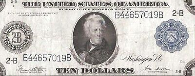 Rare New York Type-A 1914 $10 Large Federal Reserve Note