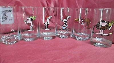 B.c. Ice Age Comics Vintage 1981 Arby's Collector Series 6 Glasses Cave Man Rare