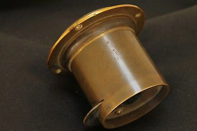 Antique E.& H.T. Antony & Co. Single Achromatic, large format  brass  lens
