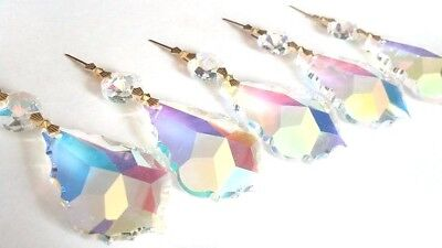 10 Iridescent AB 50mm French Chandelier Crystals Prisms Pendalogue Pendant