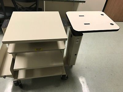 Power-Med Power Instrument table/cart with 3 shelves and computer stand