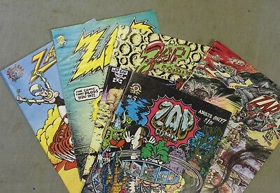 ZAP Comics  5 issues from the 60's  Hippie comic books. Collectors!