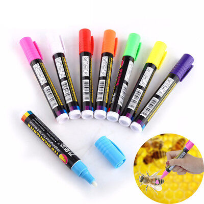 Queen Bee Marking Marker Pen Set 8 Colors Beekeeping Tools Plastic Marks Pen