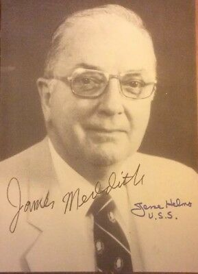 Signed Photo Of Jesse Helms Autographed By James Meredith Civil-Rights
