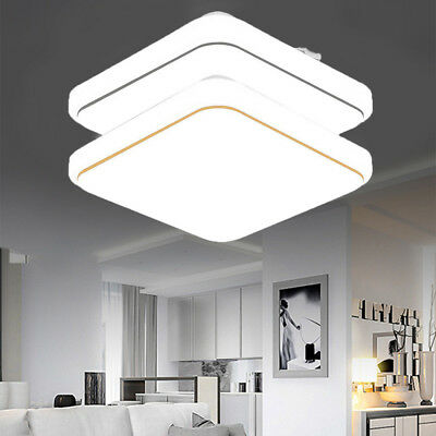 18-36W Bright Square LED Panel Ceiling Light Kitchen Living Room Bathroom Lamp