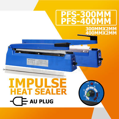 300mm 400mm Impulse Heat Sealer Poly Kraft Bag Electric Plastic Sealing Machine