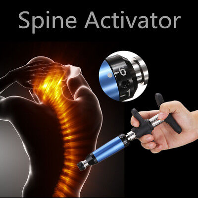 Portable Chiropractic Spine Activator Back Adjusting Tool Single Head 6 Levels D