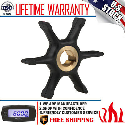 Water Pump Impeller For 10/15/18/20/25 HP Johnson Evinrude OMC 375638