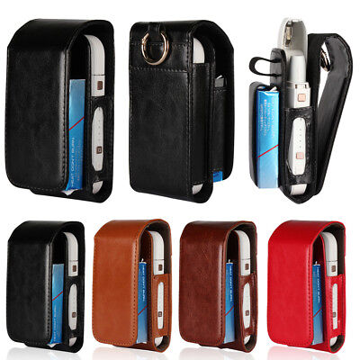 For iQOS Electronic Cigarette Kit Filp PU Leather Card Wallet Case Box Pouch Bag