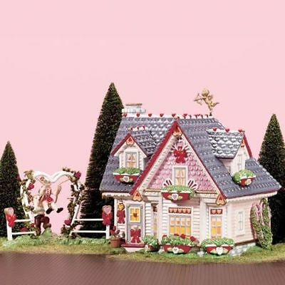 "Department 56 Snow Village ""Hearts & Blooms Cottage"" #55097 Celebrate Love' NEW"