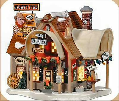 "Department 56 Snow Village ""Mighty Fine BBQ"" #55616 New In Box Very Nice Detail"