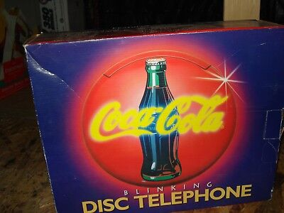 New Not Used COCA COLA  DUO TONE  BLINKING LIGHT  DISC TELEPHONE