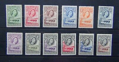 Bechuanaland 1955 - 58 set complete to 10s MM