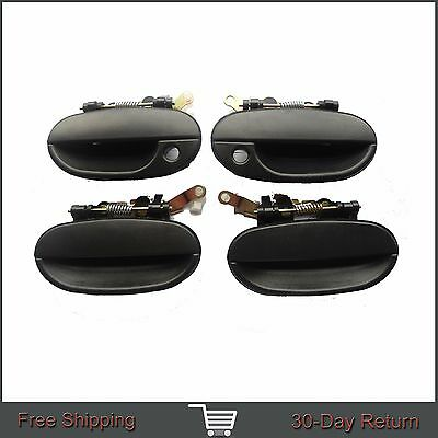 FIT 95-99 Hyundai Accent Outside Exterior Front Rear Left Right Door Handle 4Pcs