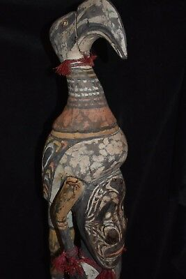 "orig $799 PAPUA NEW GUINEA ROOF FINIAL, SHELLS EARLY1900S 41"" JEAN LAURANT EST"