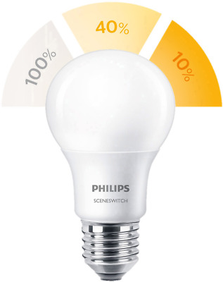 Philips Lighting LED E27 Glühlampenform 8W = 60W Warmweiß (Ø x L) 61mm x 107mm E