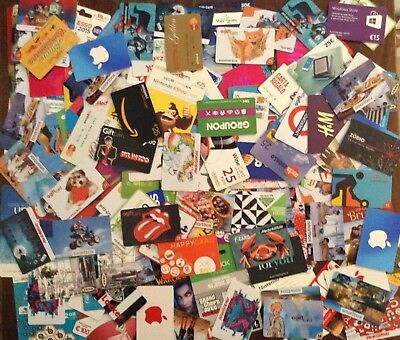 Gift Card Italy lot 200 cards